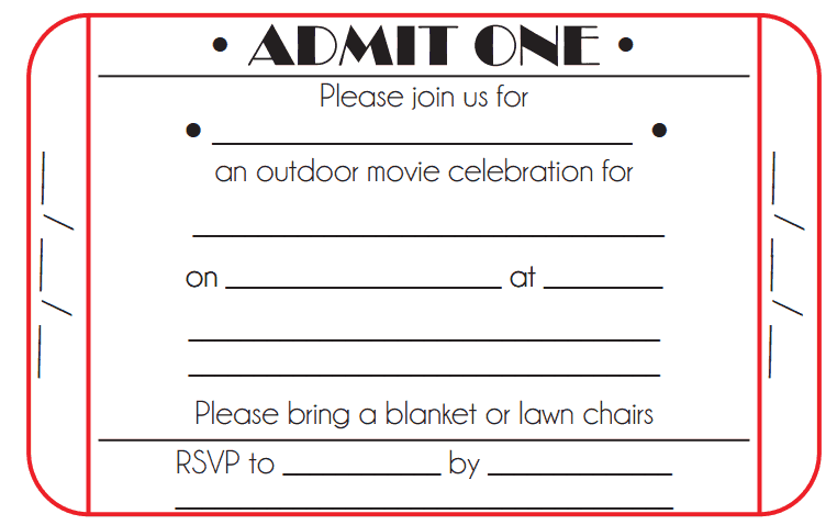 Ticket Invitation Template 4941