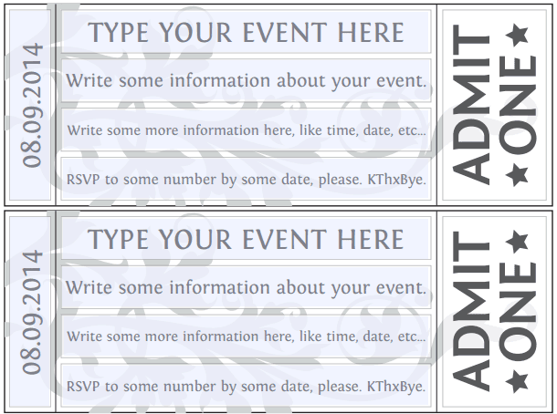 Ticket Invitation Template 5461