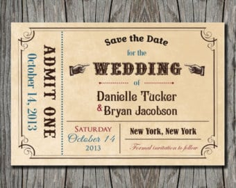 Ticket Invitation sample 841