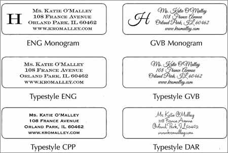 address label sample 59416