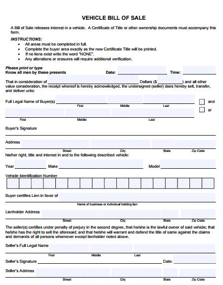 bill of sale template 4941
