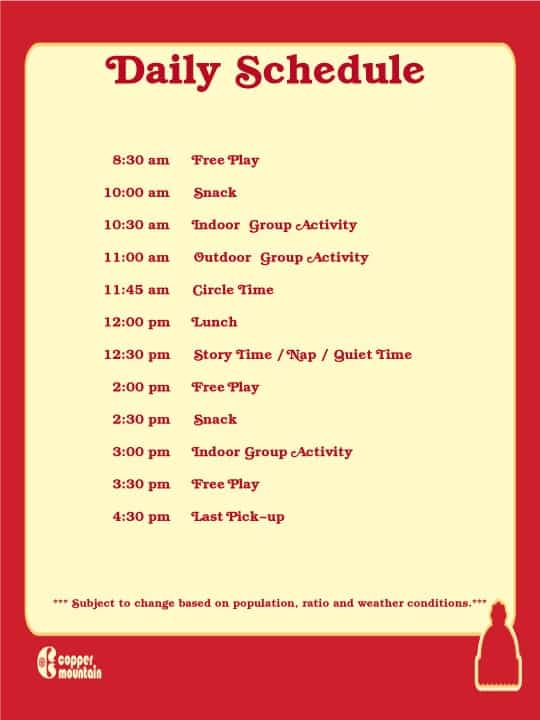 daily schedule sample 541