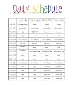 daily schedule sample 641