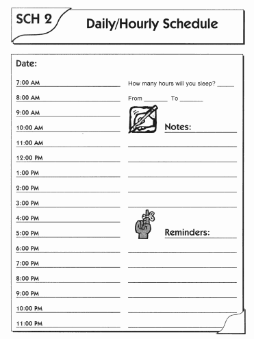 daily schedule template 49461