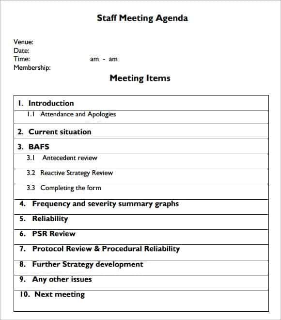 meeting agenda sample 10.6541
