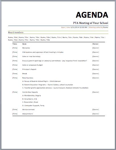 meeting agenda sample 12.4