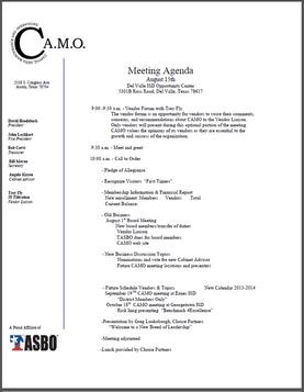 meeting agenda sample 13.941