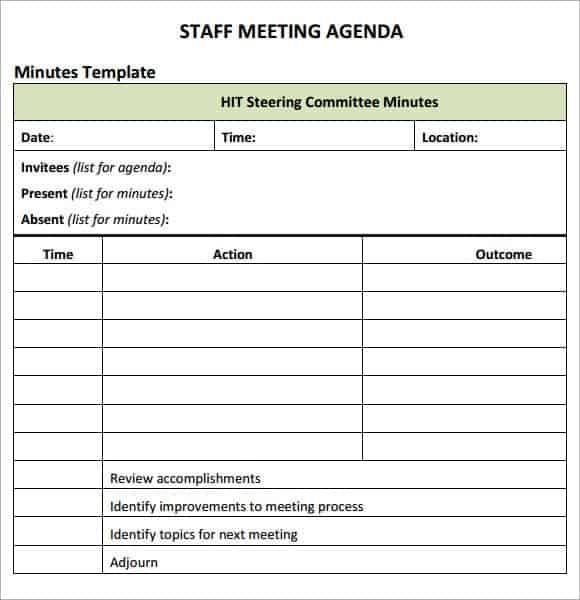 meeting agenda sample 18.641