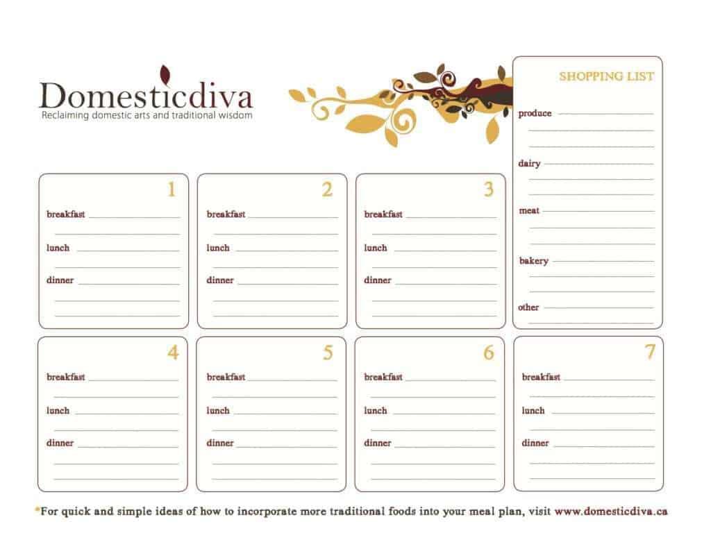menu planner sample 10.461