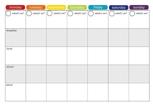 menu planner sample 8461