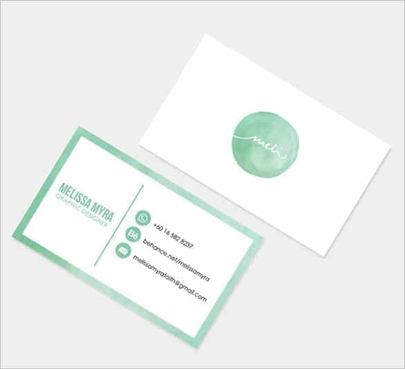 name card template 6941