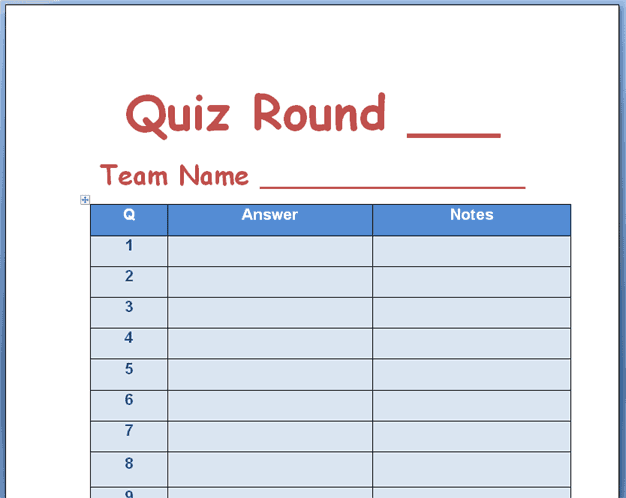 21 Free Quiz Template Word Excel Formats