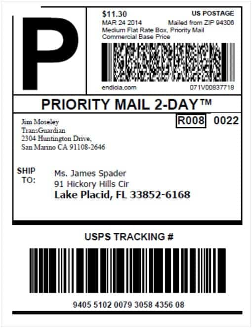 shipping label sample 10.461