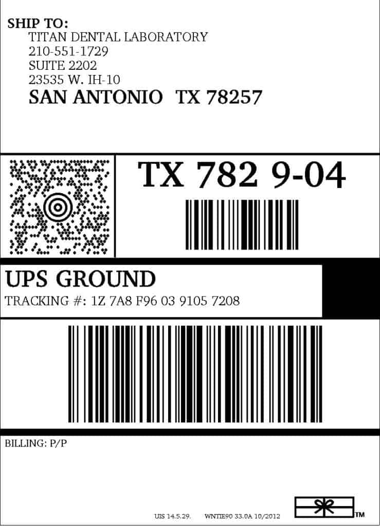 shipping label sample 3641
