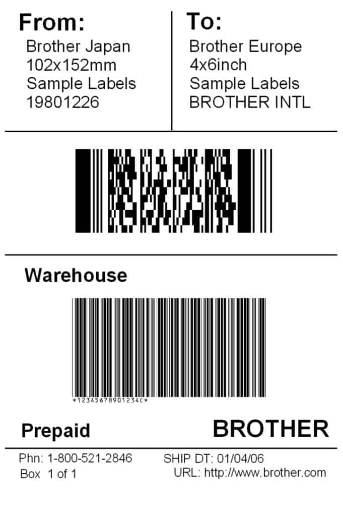 shipping label sample 941