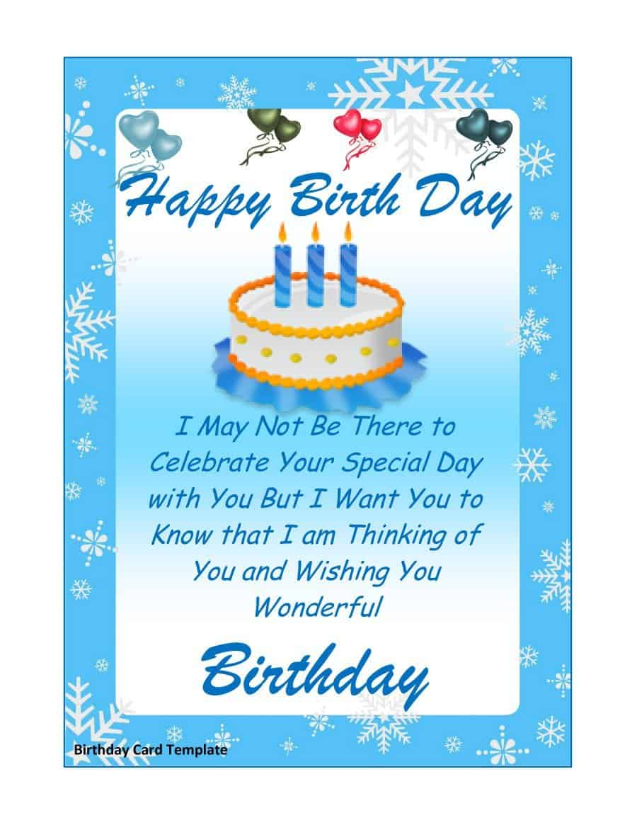 21 free 41 free birthday card templates  word excel formats